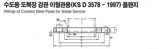KS D 3578 FLANGE DRAWING, JINAN LINKIN TRADE CO., LTD